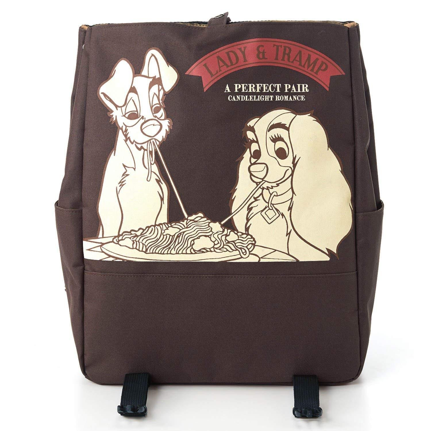 Disney Lady & Trump Rucksack Backpack cart school bag Dark Brown 31�41�14cm