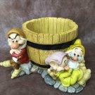 Disney 7 dwarf figure figure bowl cover case holder Horticulture Japan only