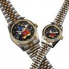 Disney Fantasia 70th Anniversary Diamond Men's Wrist watch Mickey Mouse Wizard's