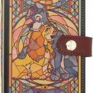 Disney Lady & Trump Stained glass smartphone Mobile case made in Japan Cowhide