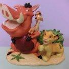 Tokyo Disney Land Lion King Pottery Figure Ornament Doll Simba Humba timon