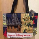 Tokyo Disney Resort 35th Anniversary Mickey Mouse Retro Tote Bag Patch Work Hand
