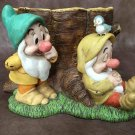 Disney 7 dwarf bowls cover case holder figure figure shade gardening Japan only