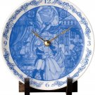 Disney Beauty and the Beast Picture Board Clock Ceramics Made in Japan Clock Bel