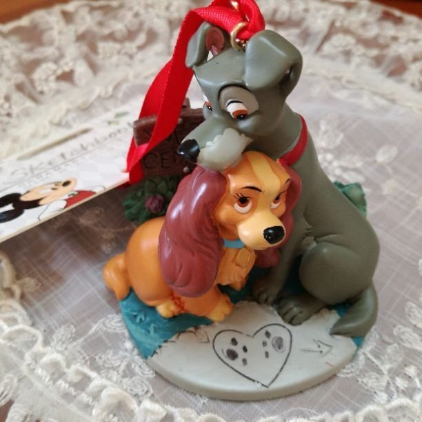 Disney Store Japan Lady and the Tramp Ornament Figure Doll sketchbook