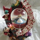 Rotation Alice Music box Snow globe Figure dome White Rabbit Queen of Hearts