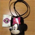 Tokyo Disney Resort only ANNA SUI Minnie Mouse Pouch Pochette Shoulder bag TDS