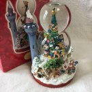 Disney Christmas Snow globe Light Up Music Box dome Mickey Pinocchio Snow White