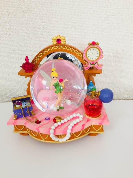 Disney Tinker Bell Figure Perfume Snow Globe Snow Dome Music box