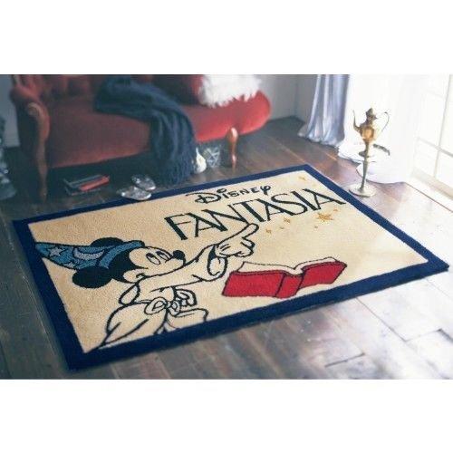 Made in Japan Disney Mickey Mouse Fantasia Rug matte carpet Pile Fluffy