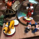 Disney Store Mickey Mouse Club Snow globe dome Music Box Figure Happy Marching