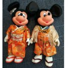 Vintage Tokyo Disney Land 1983 Mickey & Minnie Mouse Kimono Doll Young Epoch Mad