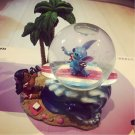 Disney Lilo and Stitch Aloha Surfing Stitch Lilo Figure Ornament Snow globe
