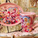 Tokyo Disney Land Alice in wonder land Souvenir Pottery Plate & Cup Set TDR