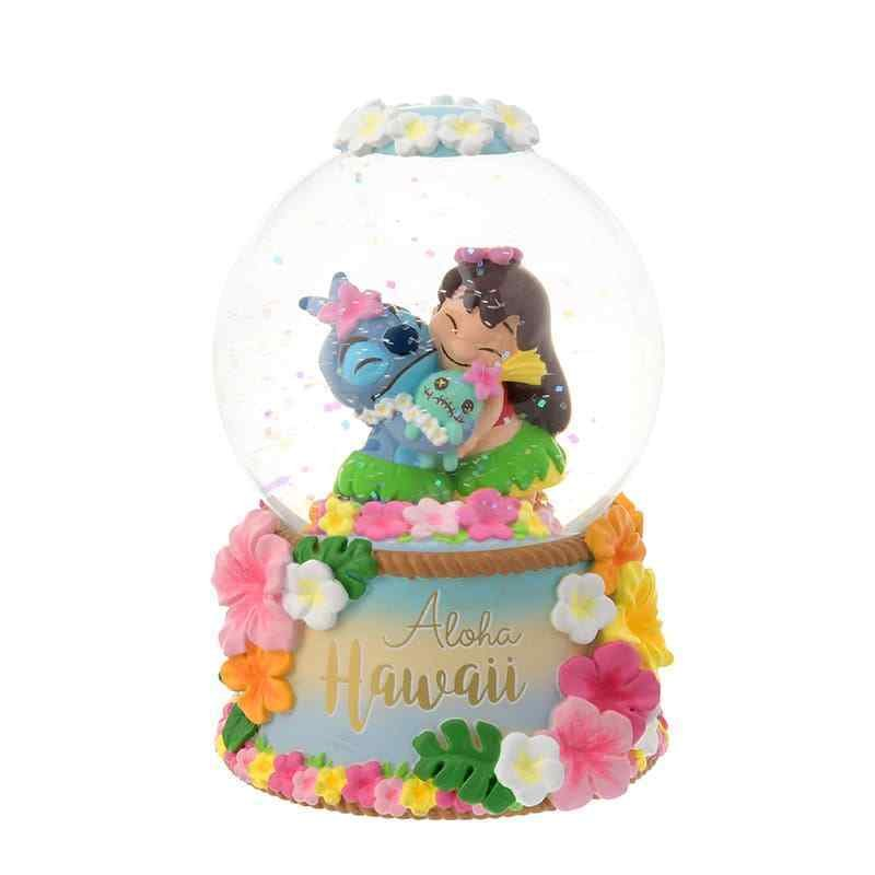 Disney Store Japan Stitch Snow Dome Figure Ornament Snow Globe Stitch Days