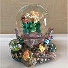 Disney Little Mermaid Snow Globe Dome  Music Box Ariel Sebastian Flander Figure