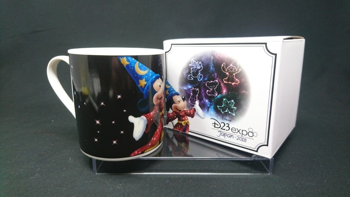 D23 EXPO JAPAN 2018 Mickey Mouse Fantasia Witch Mug Cup Cafe Cup