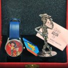 2000 Disney Store Japan Pixar Toy Story 2 Wrist watch & Woody Metal Figure Set