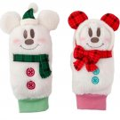 Tokyo Disney Land 2017 Mickey and Minnie with Check muffler Snow Mittens