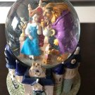 Disney Beauty and the Beast Bell figure Snow globe dome with music box