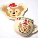 Tokyo Disney Sea Christmas version Duffy Souvenir Mug Cup & Plate Set  TDR