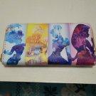 Disney Princess ARIEL BELLE CINDERELLA RAPUNZEL Wallet long wallet