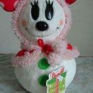 Tokyo Disney Resort 2012 Chirthmas Snow snow plush doll Minnie Mouse red