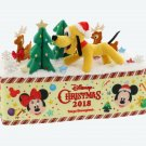 Tokyo Disney Land 2018 Christmas Mickey Pluto Tissue Box Cover Case Plush doll