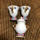 Tokyo Disney Land Beauty and the Beast Chip Cup & Sugar Pot Set TDR