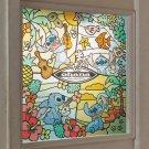 Disney Stitch stained glass style decorative sheet Wall sticker UV cut