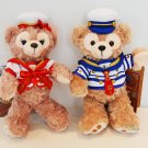2015 Disney sea Duffy & Sherry May Plush doll Stuffed toy badge with Sailor TDR
