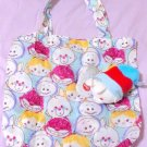 Disney Store Japan Alice White Rabbit Eco Bag with Plush Doll Baby Oyster tote