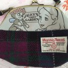 Alice Harris Tweed Gamaguchi shoulder bag Wallet Pouch Case Embroidery Pochette