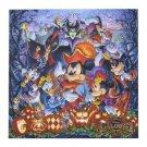 TDS 2015 Halloween canvas art picture Mickey Minnie Marejscent Villans