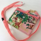 Disney Bambi ID Pass case Pink card holder with strap Pouch Japan