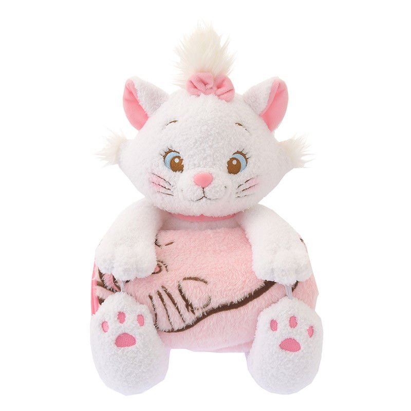 Disney store Japan Marie Blanket Plush Toy Relaxation Time Plush doll pink