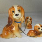 Vintage Disney Lady & Tramp Lady & Puppy Pottery Figurines Figurines
