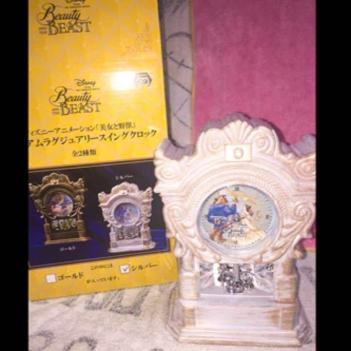 Disney Beauty and the Beast Clock pendulum table clock Swing clock Japan Princes