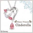 Disney Princess Cinderella Silver Necklace Zirconia