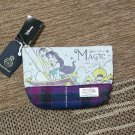 Disney Aladdin Jasmine x Harris Tweed Pouch Bag Cosmetic Bags Case purse