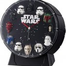 Star Wars 12 Figures Alarm Clock 4ZEA26MC02  Japan Black RHYTHM WATCH