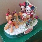 Tokyo Disneyland 1996 Christmas Fantasy Mickey Minnie Sled Figure Ornament Doll
