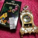 Disney Alice in Wonderland Alice & Cheshire Cat Castle Clock Table Clock Japan