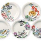 Disney Alice in Wonderland Flower Cake Mini dish set White Rabbit Plate Japan