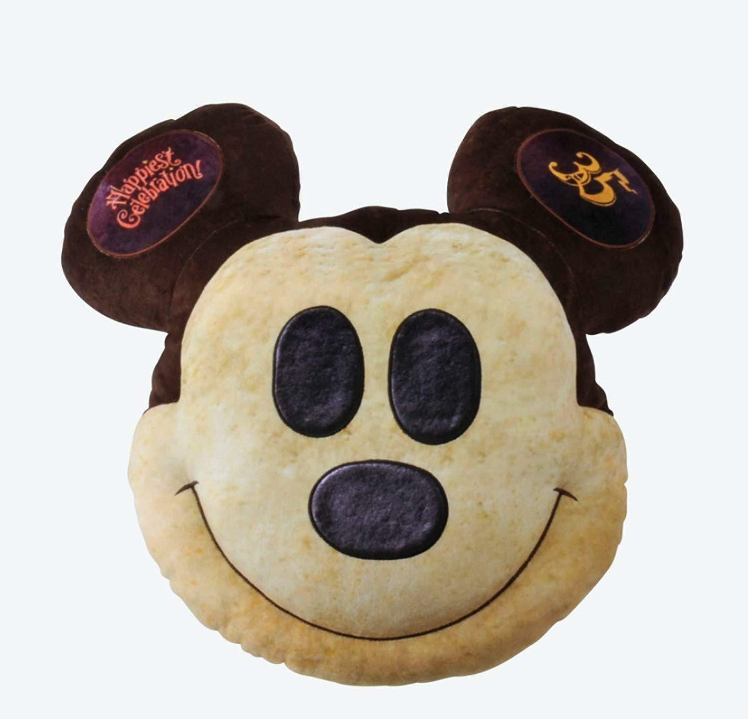 Tokyo Disney Resort The 35th anniversay Mickey Mouse Pan type  face  cushion