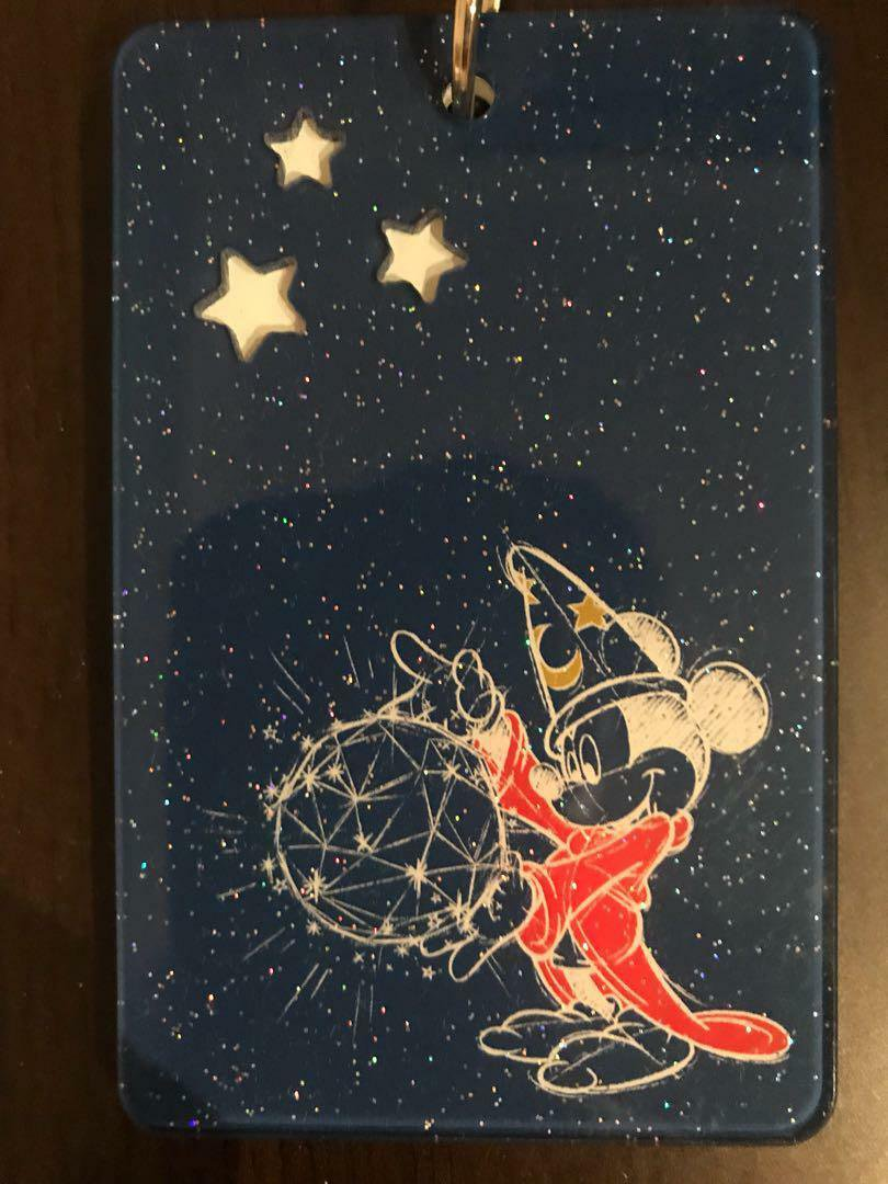 Disney D23 EXPO Japan  Mickey Mouse Acrylic Pass Case Card Holder Witch