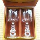 Tokyo Disneyland Winnie the Pooh Pair wine glass set TDR Glass Figure japan