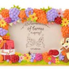 Disney Store JAPAN Chip & Dale  Pottery Photo Frame Photo Stand with 3D Figure