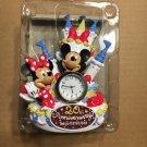 Tokyo Disneyland 20 Anniversary Mickey Minnie Decoration Cake type Quartz placem