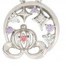 Disney Cinderella pumpkin carriage motif Silver 925 Necklace wiht original box